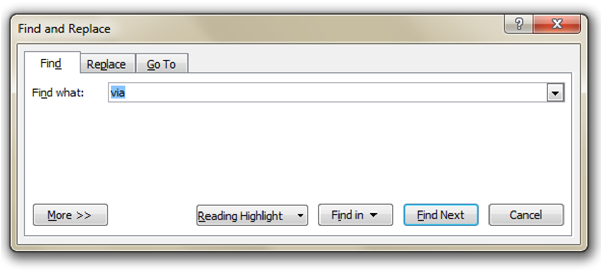 02-Find & Replace Dialog Box and Editing Buttons