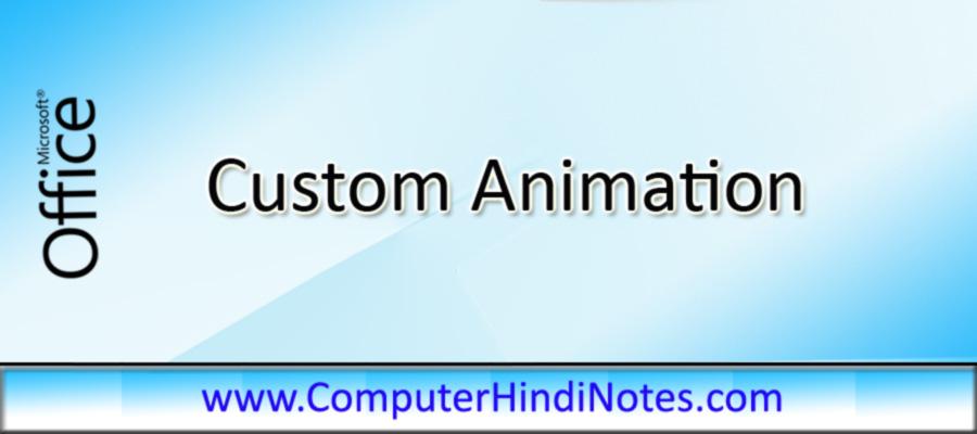 Custom-Animation