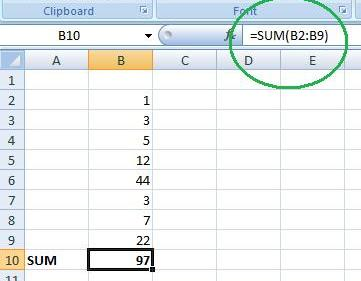 using-sum-function-in-excel