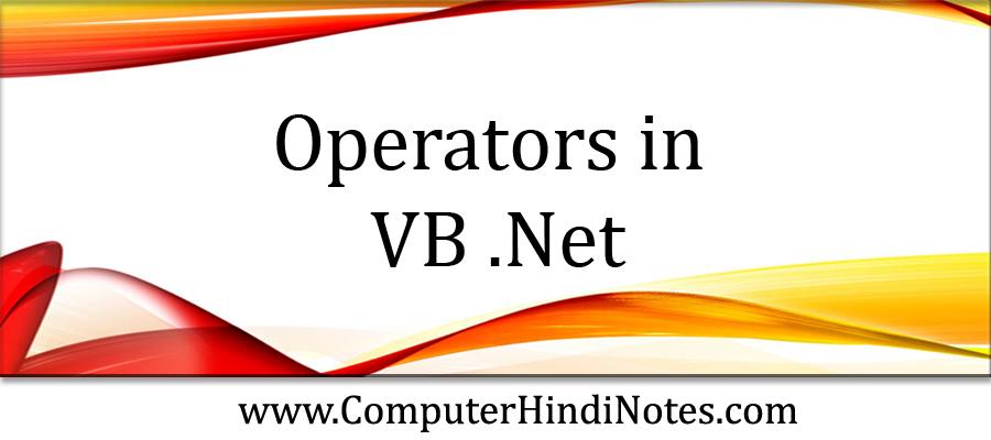 Operators-in-VB-.Net