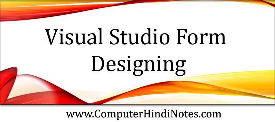 Visual-Studio-Form-Designin
