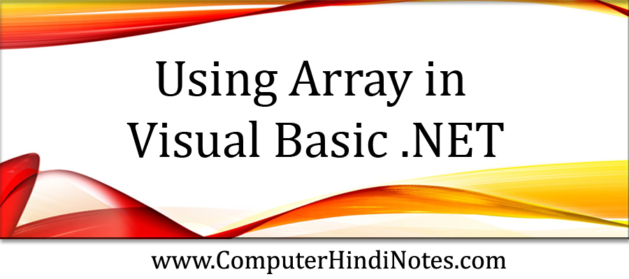 Using-Array-in-Visual-Basic