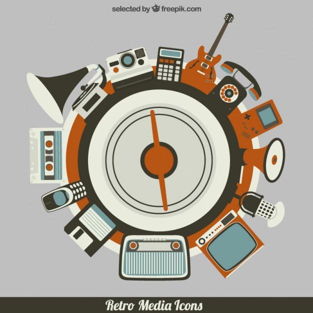 circular-retro-multimedia-elements_460-26