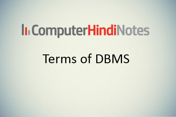 dbms terms