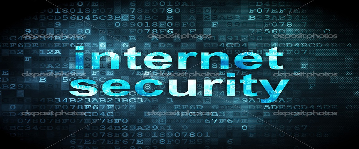 Safety concept: Internet Security on digital background
