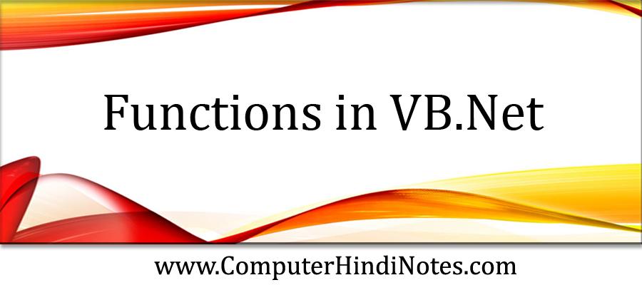 Functions-in-VB.Net