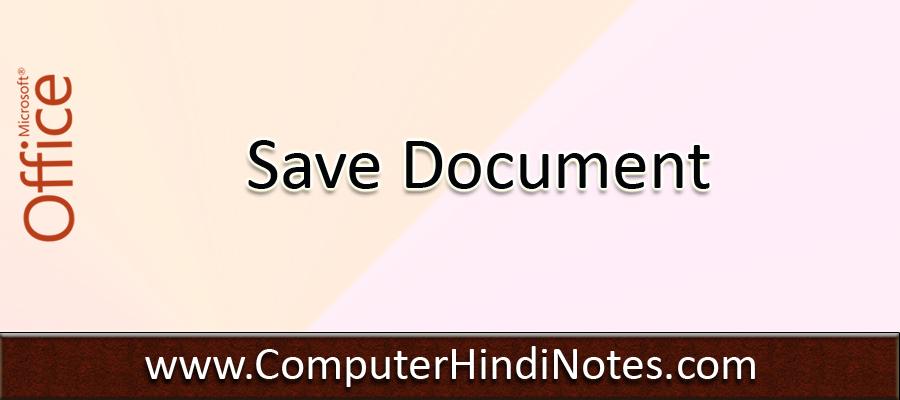 Saving-The-Document