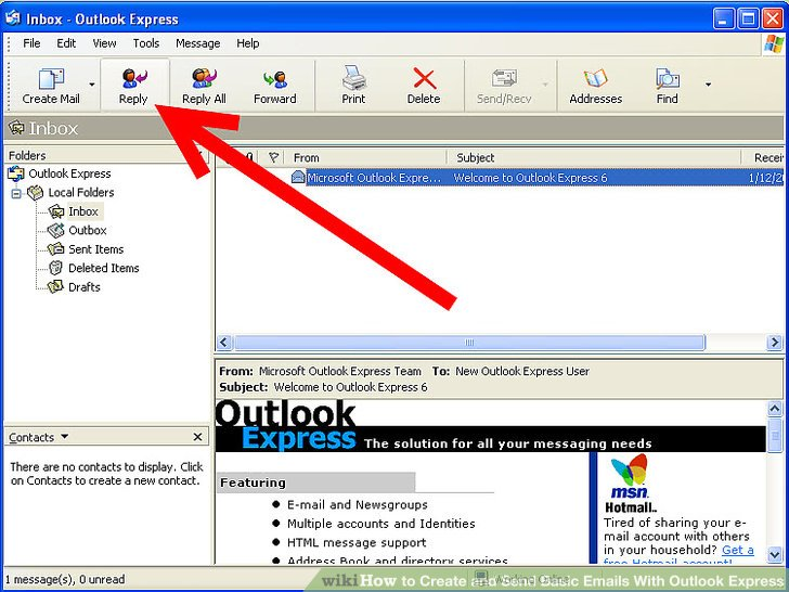 Reply mail in outlook