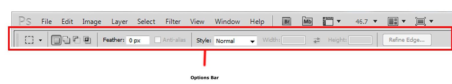 Options-bar