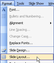 format menu in powerpoint