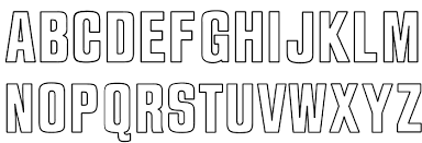 Outline font in multimedia