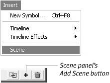 add Scene button