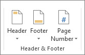 header and foot