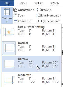 types margin