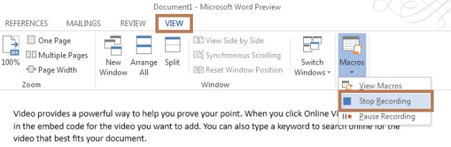 Stop-recording-in-word2013