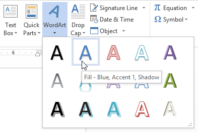 textbox_wordart_select_wordart