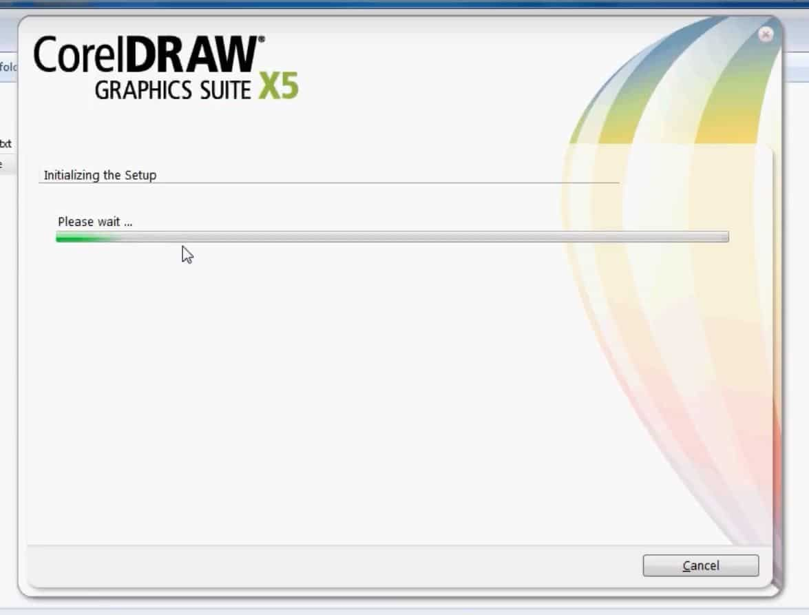 corel draw installation screen 1