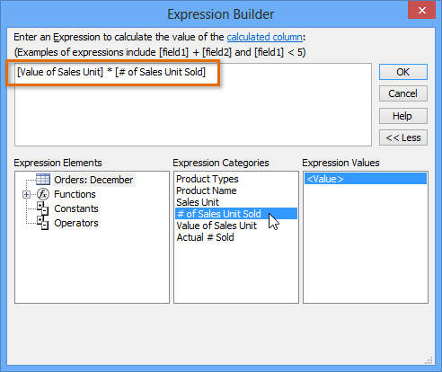 Expression builler