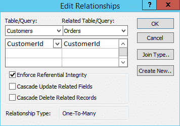 edit relationship in access 2013