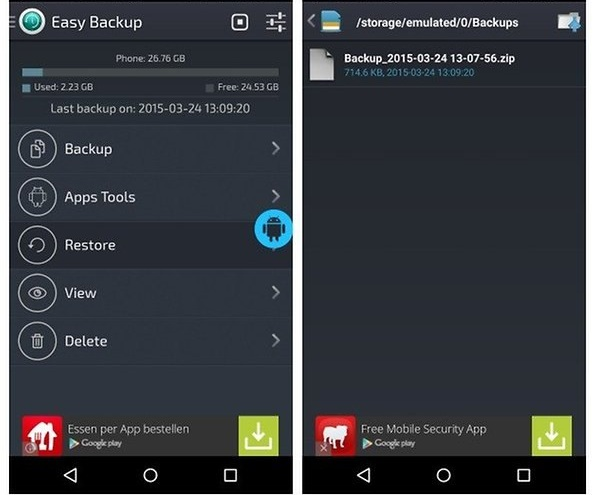 Easy Backup & Restore Apps restore