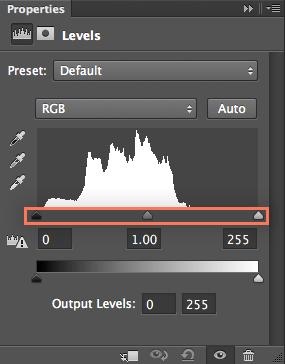 input levels slider
