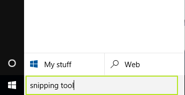 open snipping tool