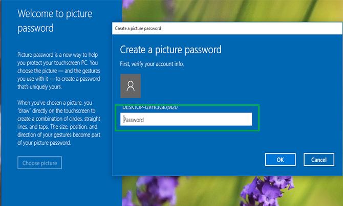 set picture password