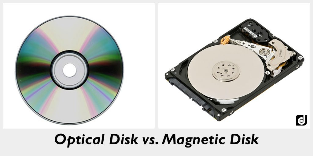 Differences between Magnetic disk and Optical disc