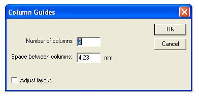 column in pagemaker 7.0
