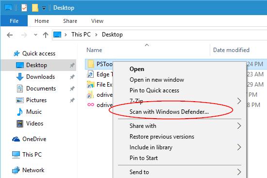 Windows-10-Scan-with-Windows-Defender