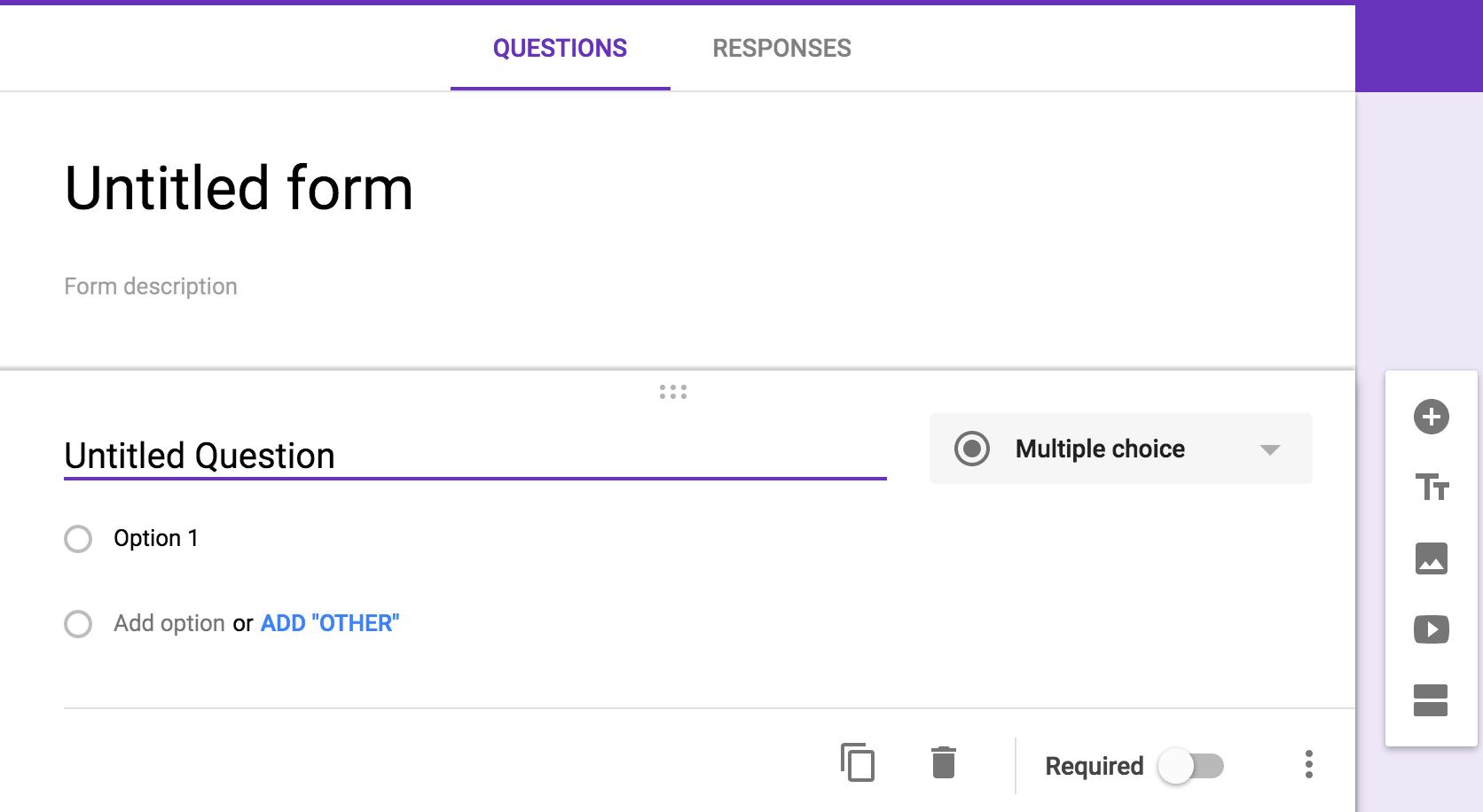 google form option