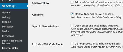 Add an External Link Icon in WordPress