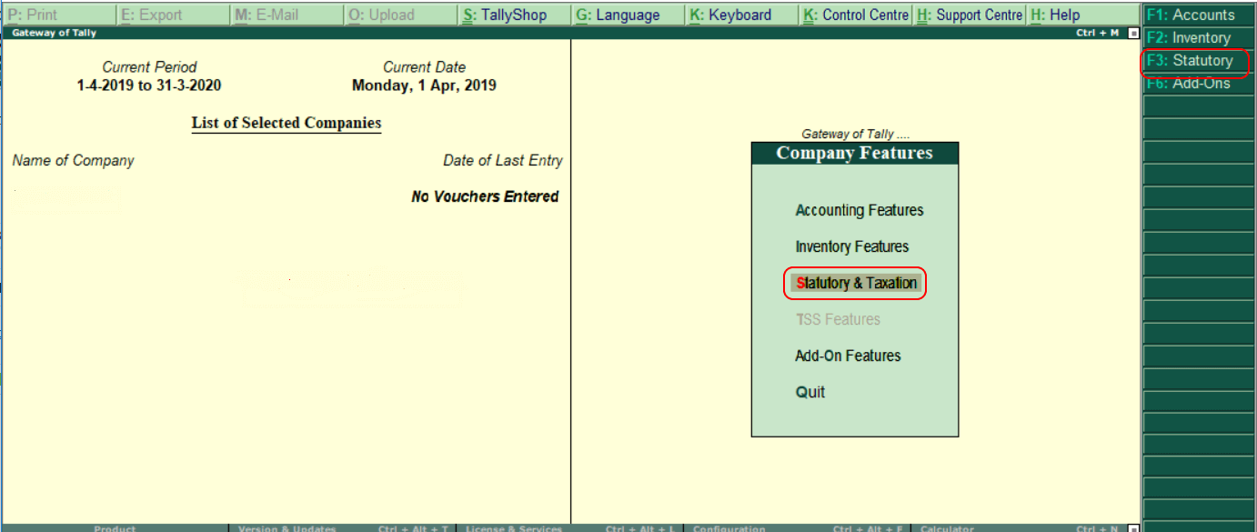 how to activate gst in tally2