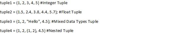 create tuple in python