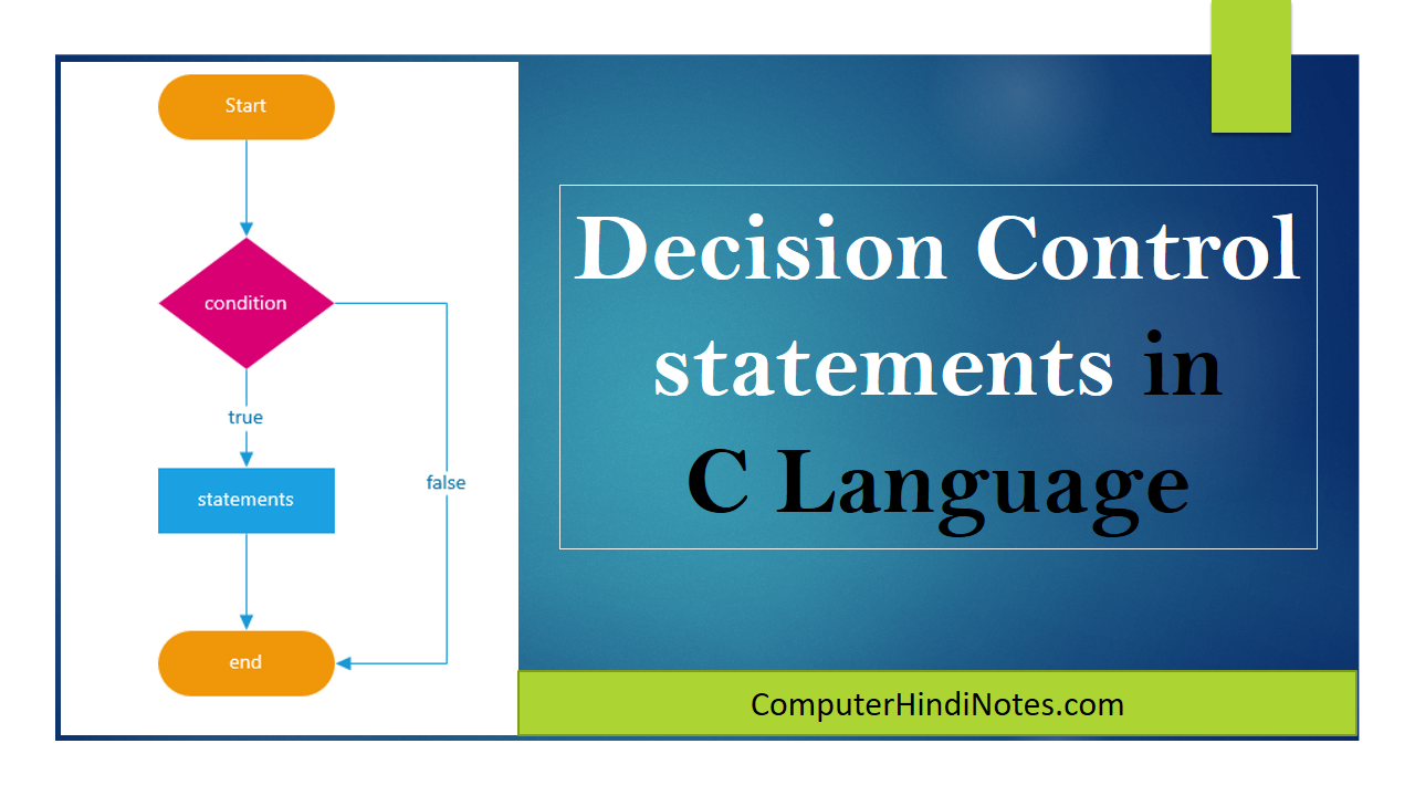 decision control ststement in c
