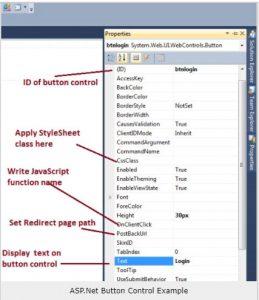 asp net button control properties