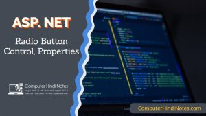 asp net radio button control and properties