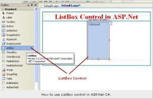 asp net list box control