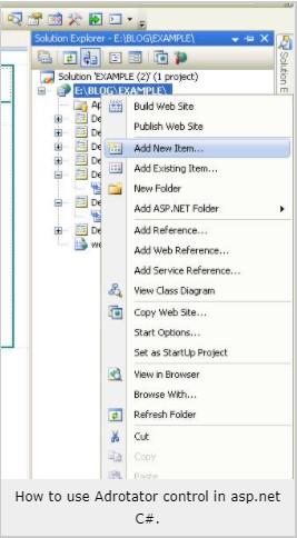 adrotator control in aspnet xml file