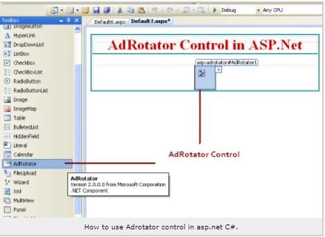 adrotator control in aspnet